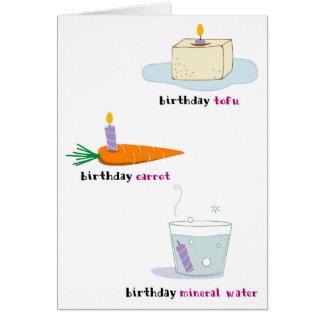Healthy Food Birthday Card