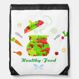 healthy food Drawstring Backpack