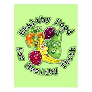 Healthy Food For Healthy Teeth Post Cards