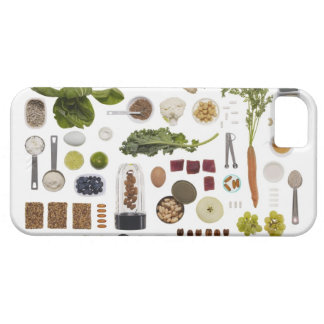 Healthy food grid on a white background. barely there iPhone 5 case