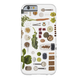 Healthy food grid on a white background. barely there iPhone 6 case