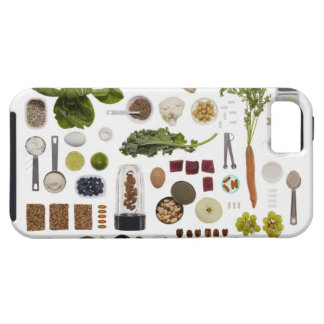 Healthy food grid on a white background. tough iPhone 5 case