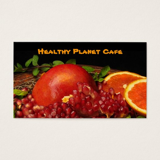 Healthy Food Restaurant Business Card