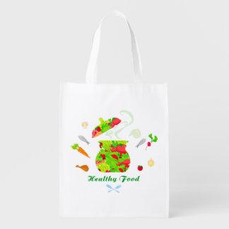healthy food Reusable Grocery Bag
