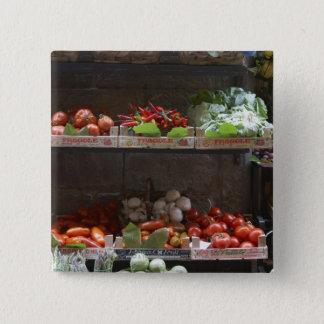 healthy fresh produce 15 cm square badge