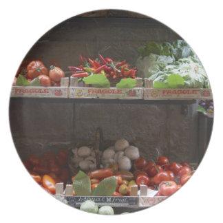 healthy fresh produce plate