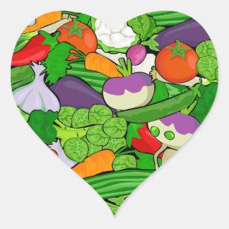 Healthy Fresh Vegetables Medley Heart Sticker