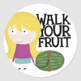 Healthy fruit sticker