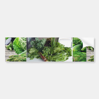 Healthy green leafy vegetable salads chefs cuisine bumper sticker