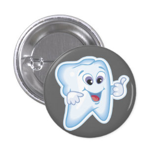 Healthy Happy Tooth 3 Cm Round Badge