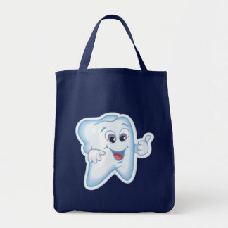 Healthy Happy Tooth Grocery Tote Bag