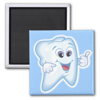 Healthy Happy Tooth Square Magnet