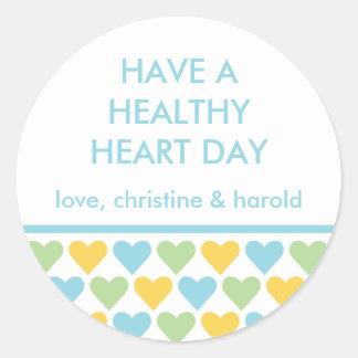 Healthy heart blue Valentine's day custom message Sticker