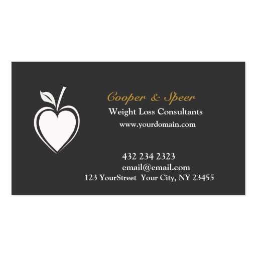 Create Your Own Nutritionist Business Cards - Page2