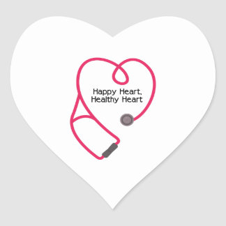 Healthy Heart Heart Sticker