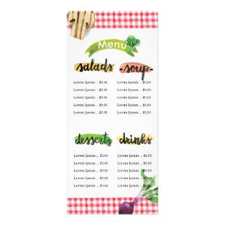 Healthy homemade organic vegan menu template customized rack card