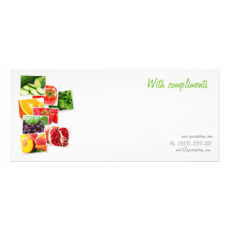 Healthy life compliment slip rack card