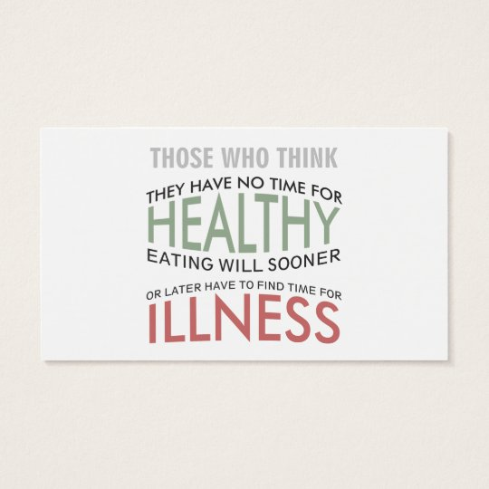 Healthy Life Quote Text Design Business Card