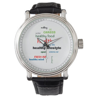 Healthy Lifestyle Word Cloud Watch