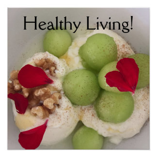 Healthy living food poster