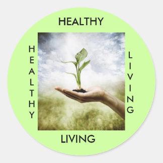 HEALTHY, LIVING, HEALTHY... STICKER