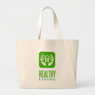 healthy living jumbo tote bag