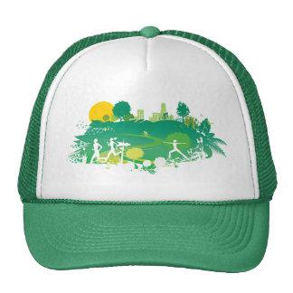 Healthy Living Scene Hats