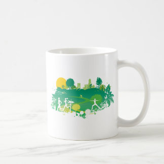 Healthy Living Scene Coffee Mugs