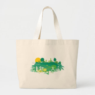 Healthy Living Scene Jumbo Tote Bag