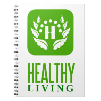 healthy living spiral notebook