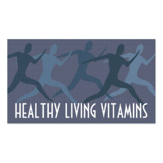 """""""Healthy Living Vitamins"""" Blue Pack Of Standard Business Cards"""