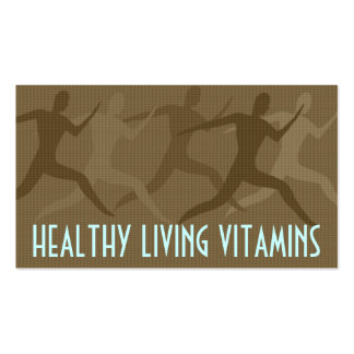 """""""Healthy Living Vitamins"""" Sepia Pack Of Standard Business Cards"""