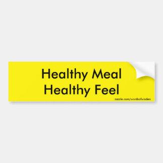 Healthy Meal Bumper Sticker