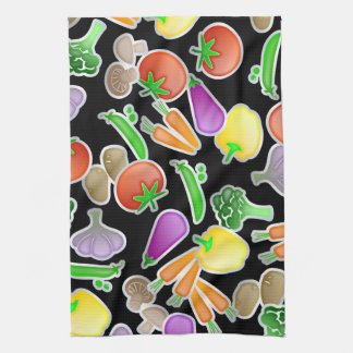 Healthy Mixed Vegetable Wallpaper Design Tea Towel