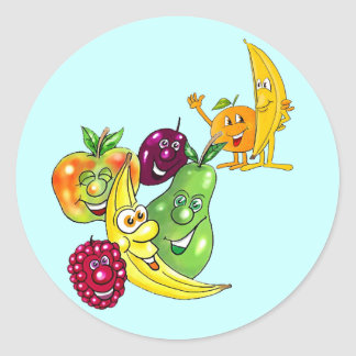 Healthy Nutritional Fruit Round Sticker