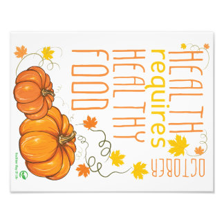 Healthy October Wall Poster