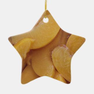 healthy peaches ceramic star decoration