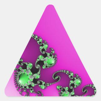 Healthy Purple Triangle Sticker