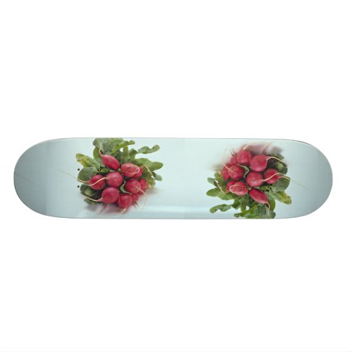 Healthy Radishes along with leaves Skate Deck