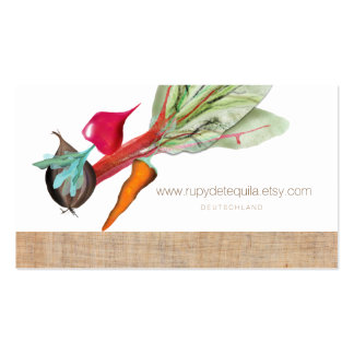 Healthy Salad Vegetables Pack Of Standard Business Cards