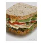 Healthy sandwich poster