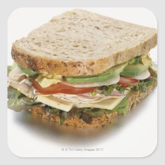 Healthy sandwich square sticker