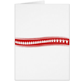 Healthy Spine People Banner Greeting Card