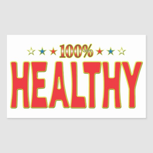 Healthy Star Tag Stickers