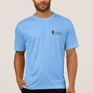 Healthy Trekking Black Logo Activewear T-Shirt