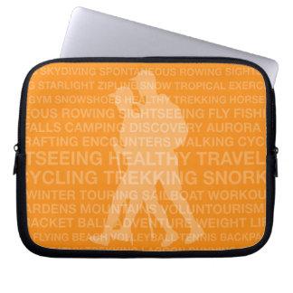 Healthy Trekking Typography Tangerine Wet Suit Laptop Sleeve