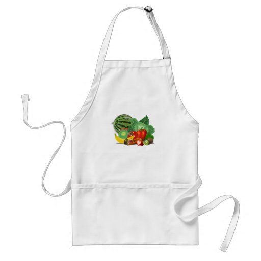 healthy_Vector_Clipart FRUITS VEGETABLES gardening Aprons