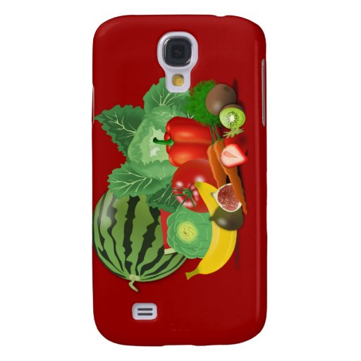 healthy_Vector_Clipart FRUITS VEGETABLES gardening Samsung Galaxy S4 Covers