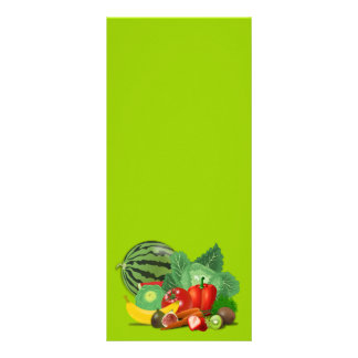 healthy_Vector_Clipart FRUITS VEGETABLES gardening Customised Rack Card
