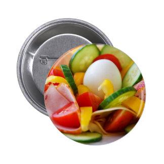 Healthy Vegan Breakfast Pinback Buttons